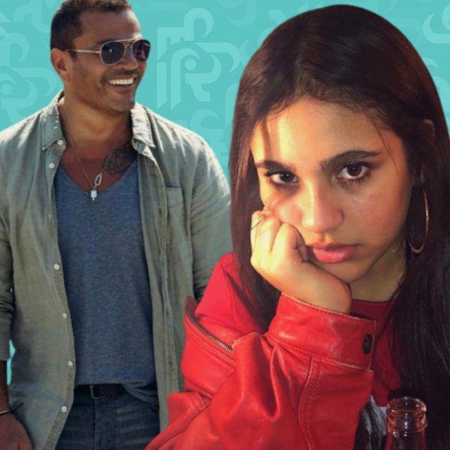 قبلة ابنة عمرو دياب لشاب أجنبي وجلدوها - صورة