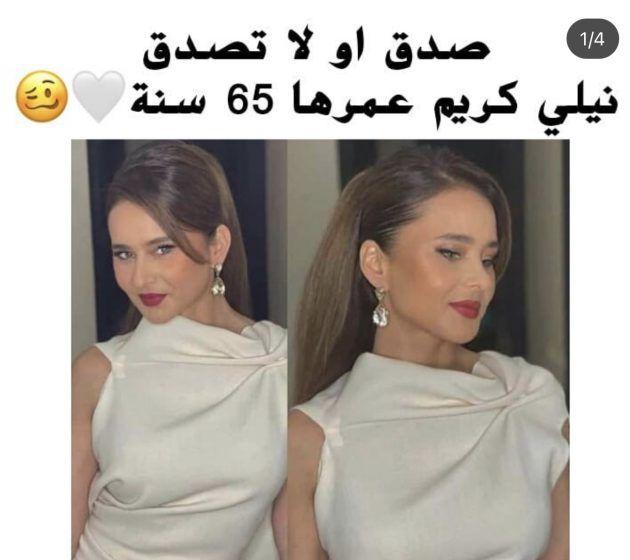 الصورة التي نشرت لنيللي كريم