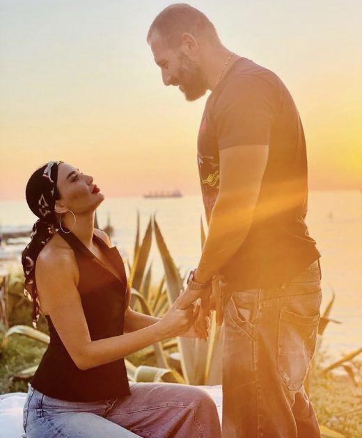 سيرين عبد النور تحتفل ب ١٤ عام زواج - صورة