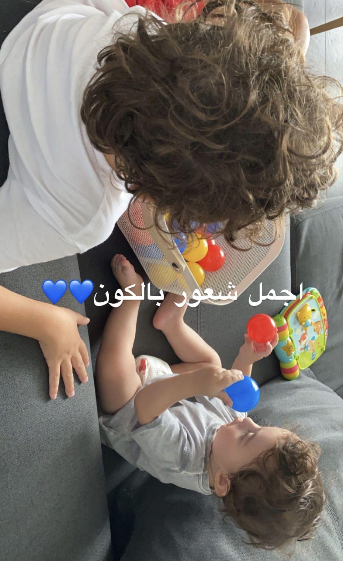 ميريام فارس وأجمل صورة لطفليها معاً - صورة