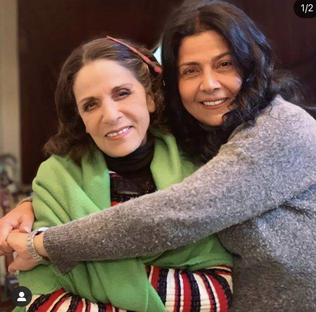 صورة بين الشقيقتين سامية وصباح الجزائري