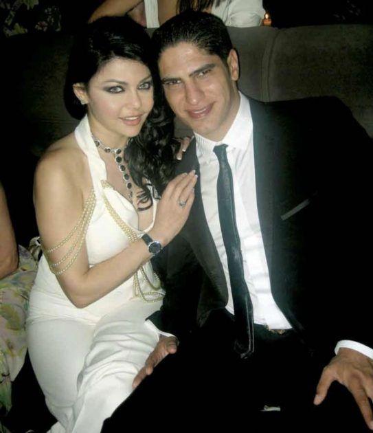 هيفا وهبي مع زوجها السابق احمد ابو هشيمة